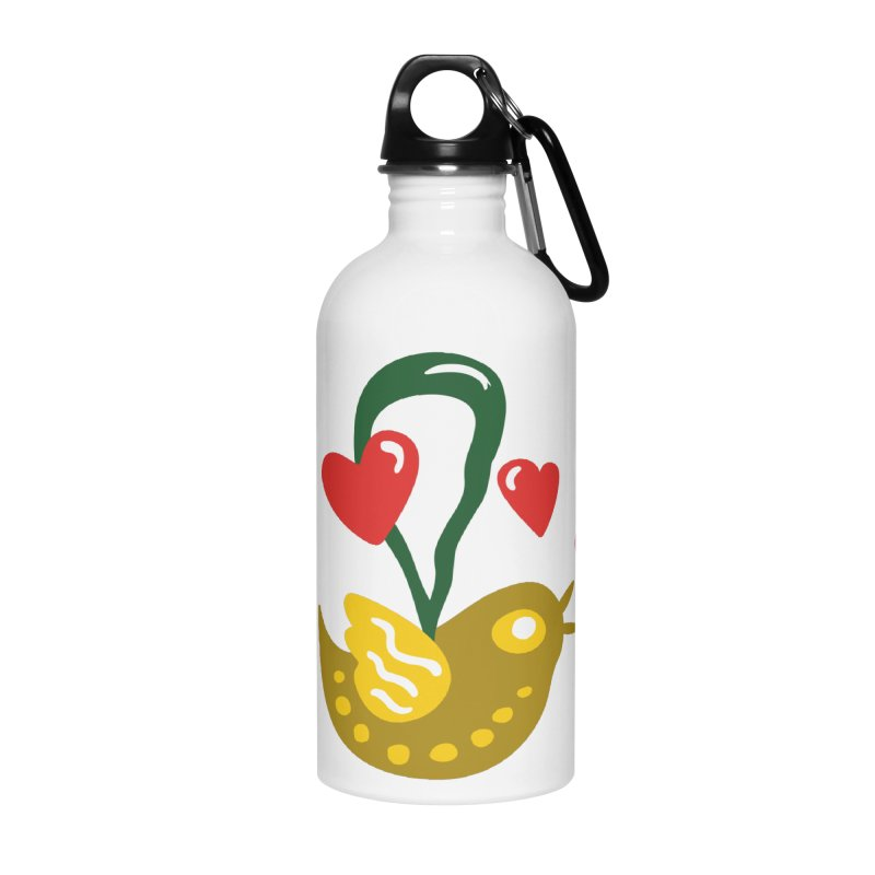 Fake Bird Accessories Water Bottle by Dicker Dandy