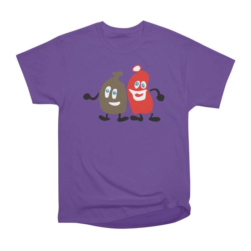 Xmas Buddies Men's Heavyweight T-Shirt by Dicker Dandy