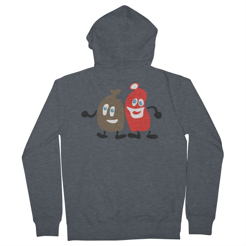 Xmas Buddies Women's French Terry Zip-Up Hoody by Dicker Dandy