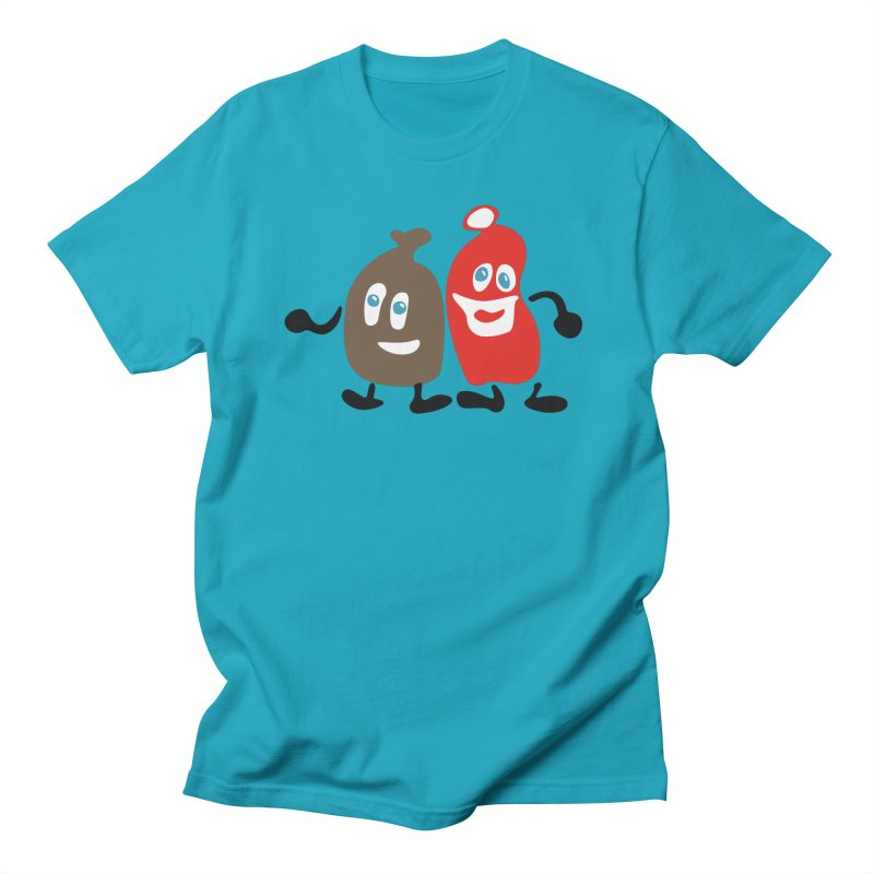 Xmas Buddies Men's Regular T-Shirt by Dicker Dandy