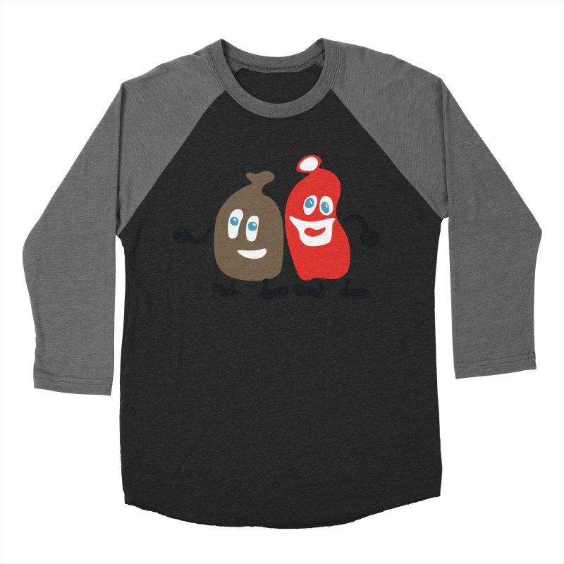 Xmas Buddies Men's Baseball Triblend T-Shirt by Dicker Dandy