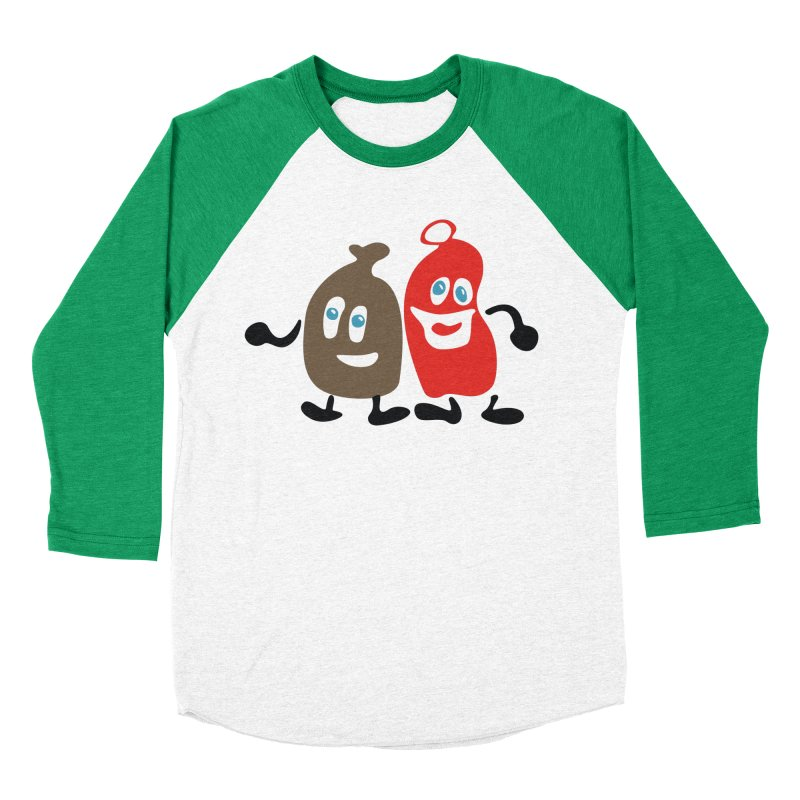 Xmas Buddies Men's Baseball Triblend Longsleeve T-Shirt by Dicker Dandy