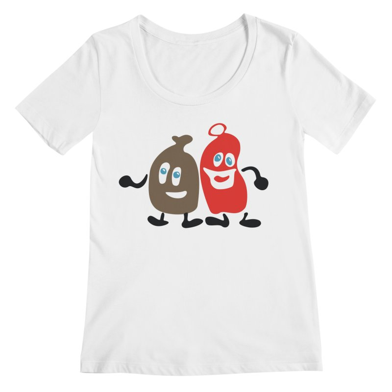 Xmas Buddies Women's Scoop Neck by Dicker Dandy
