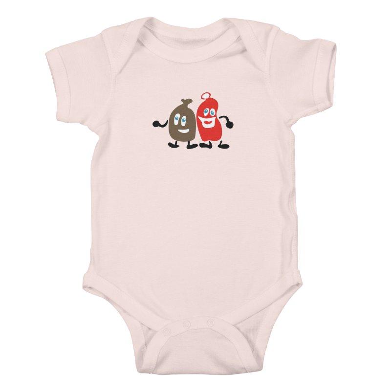 Xmas Buddies Kids Baby Bodysuit by Dicker Dandy