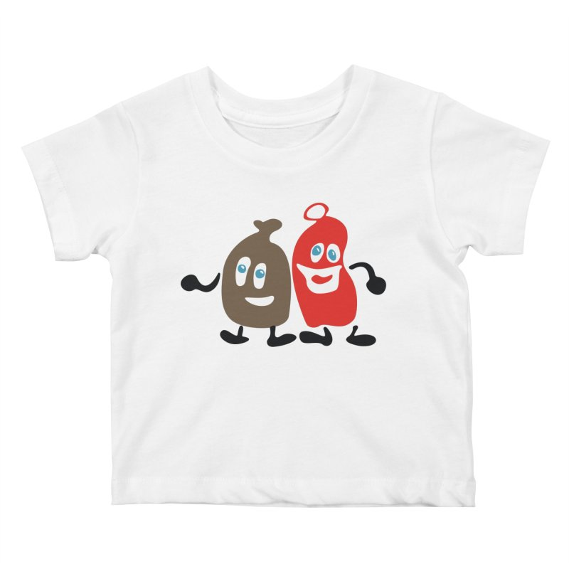 Xmas Buddies Kids Baby T-Shirt by Dicker Dandy