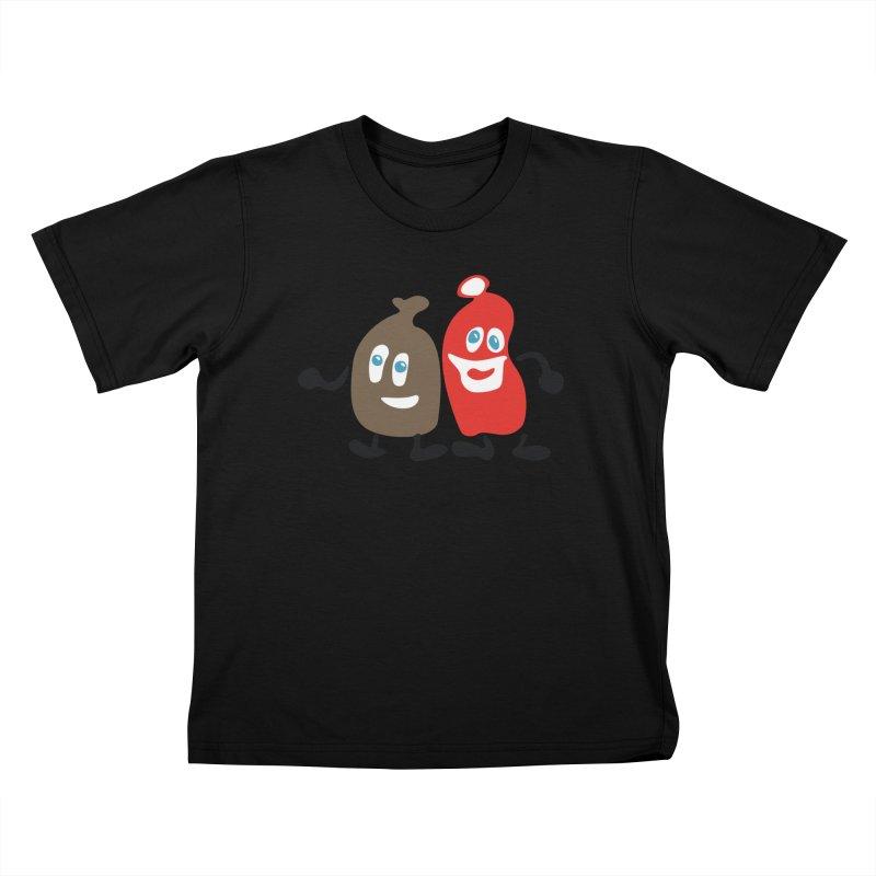 Xmas Buddies Kids T-Shirt by Dicker Dandy