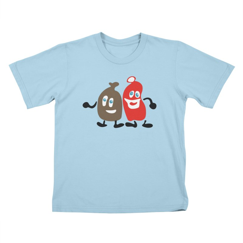 Xmas Buddies Kids T-Shirt by Dicker Dandy