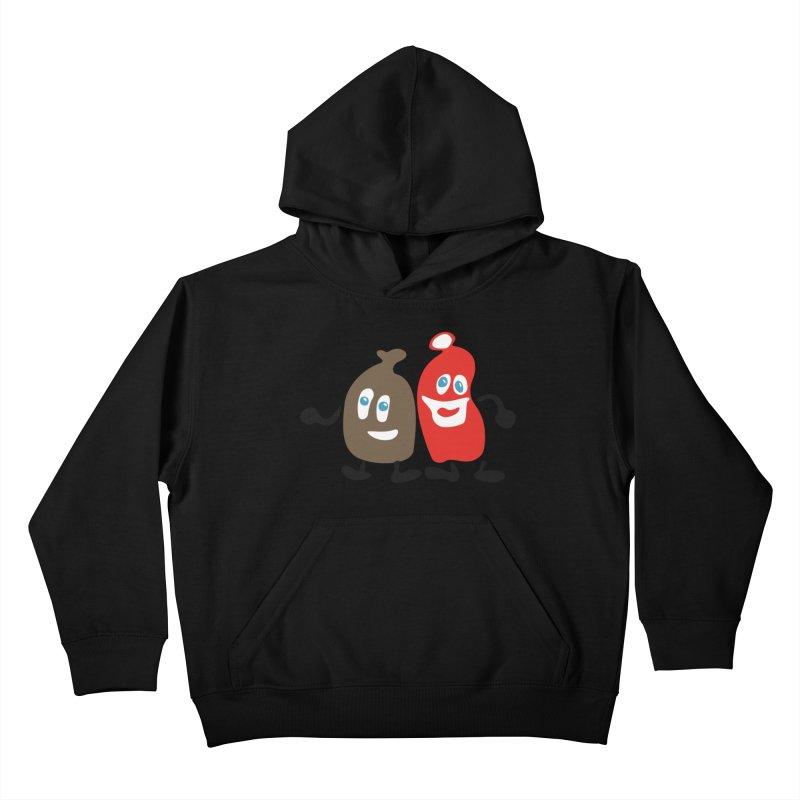 Xmas Buddies Kids Pullover Hoody by Dicker Dandy