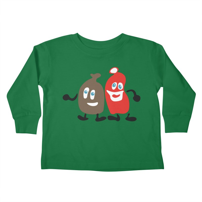 Xmas Buddies Kids Toddler Longsleeve T-Shirt by Dicker Dandy
