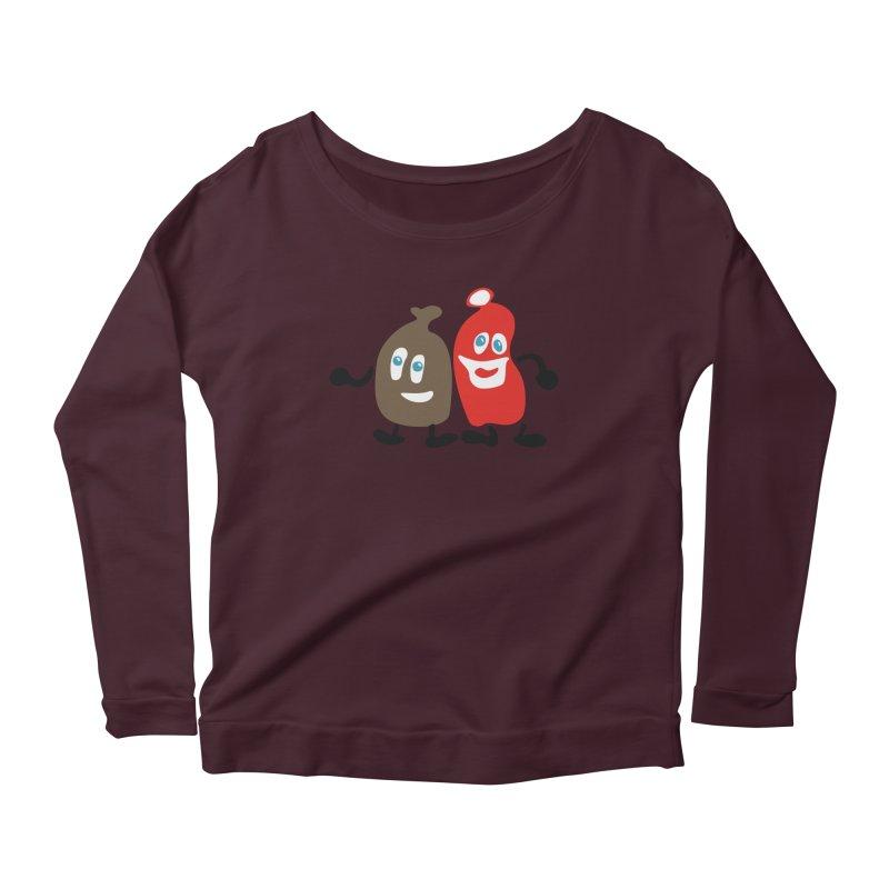 Xmas Buddies Women's Scoop Neck Longsleeve T-Shirt by Dicker Dandy