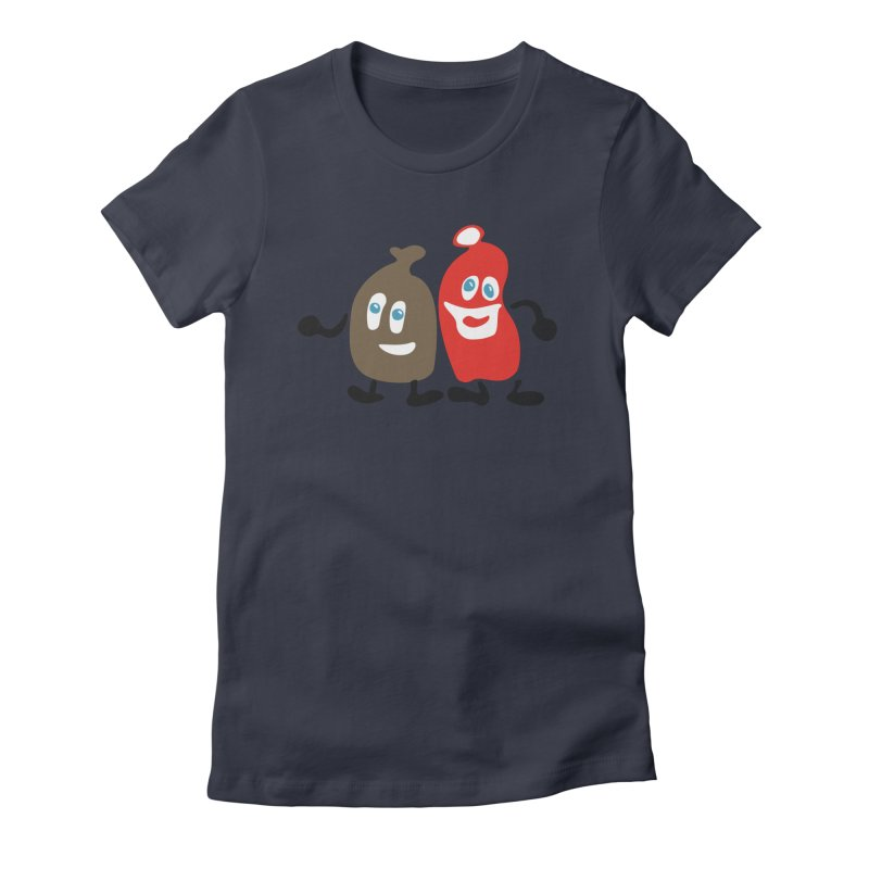 Xmas Buddies Women's Fitted T-Shirt by Dicker Dandy