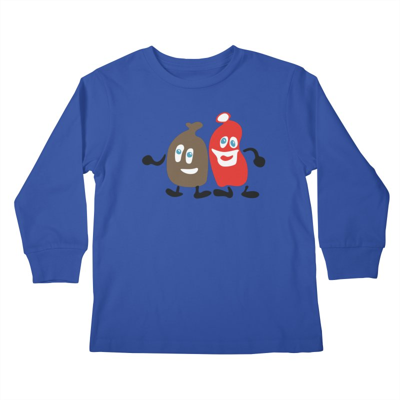 Xmas Buddies Kids Longsleeve T-Shirt by Dicker Dandy
