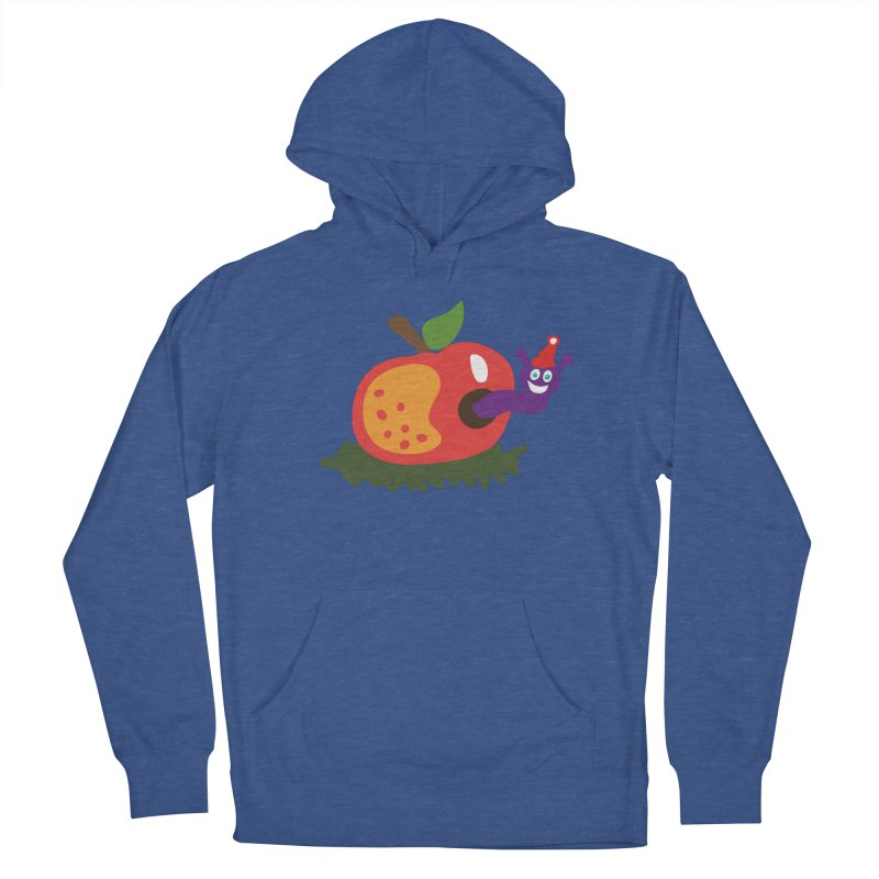 Apple Worm Men's French Terry Pullover Hoody by Dicker Dandy