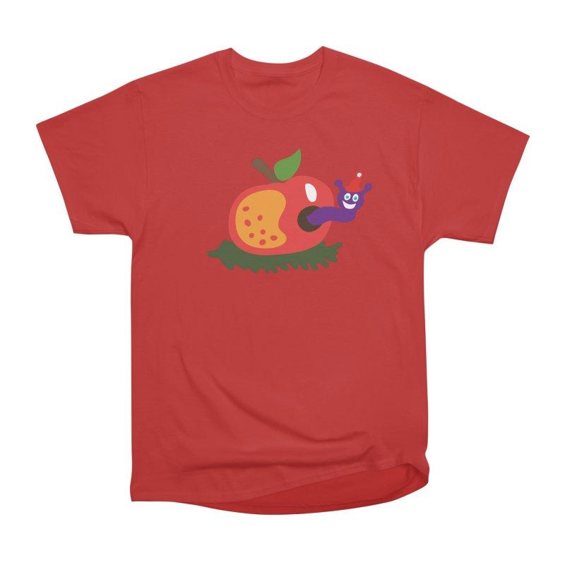Apple Worm Men's Heavyweight T-Shirt by Dicker Dandy