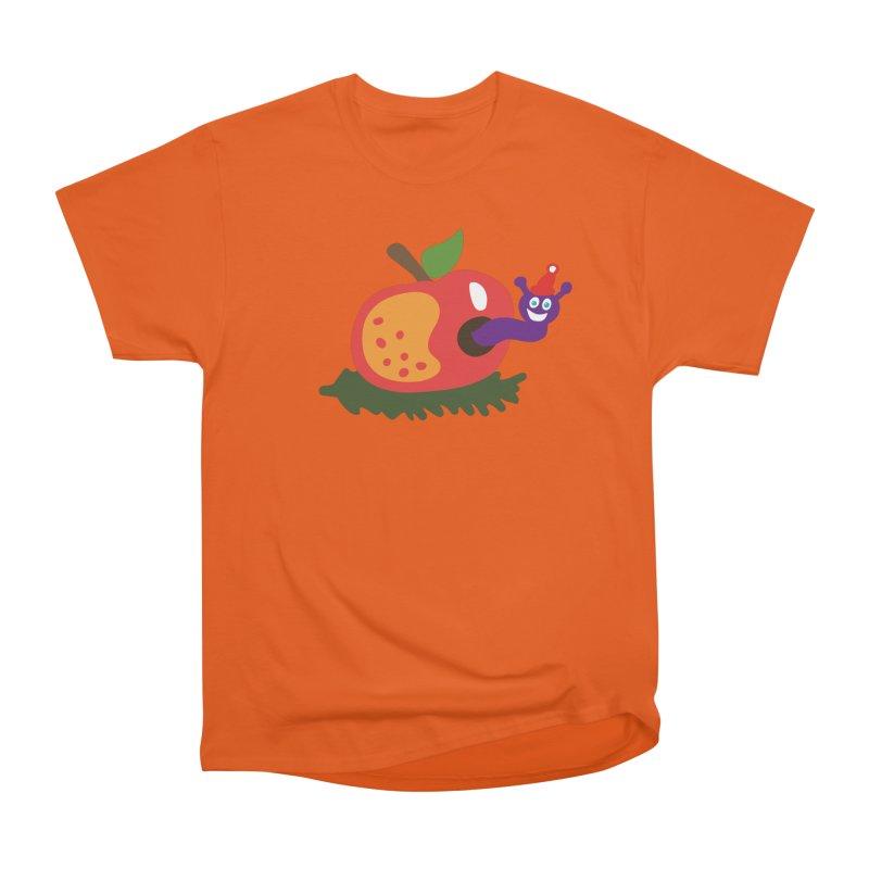 Apple Worm Women's Classic Unisex T-Shirt by Dicker Dandy
