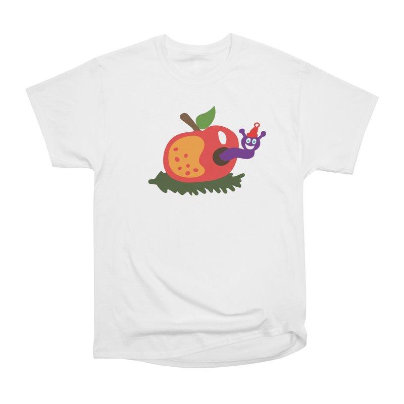Apple Worm Women's Heavyweight Unisex T-Shirt by Dicker Dandy