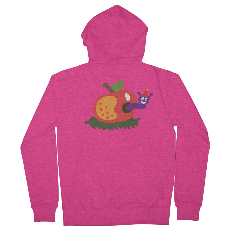 Apple Worm Women's Zip-Up Hoody by Dicker Dandy