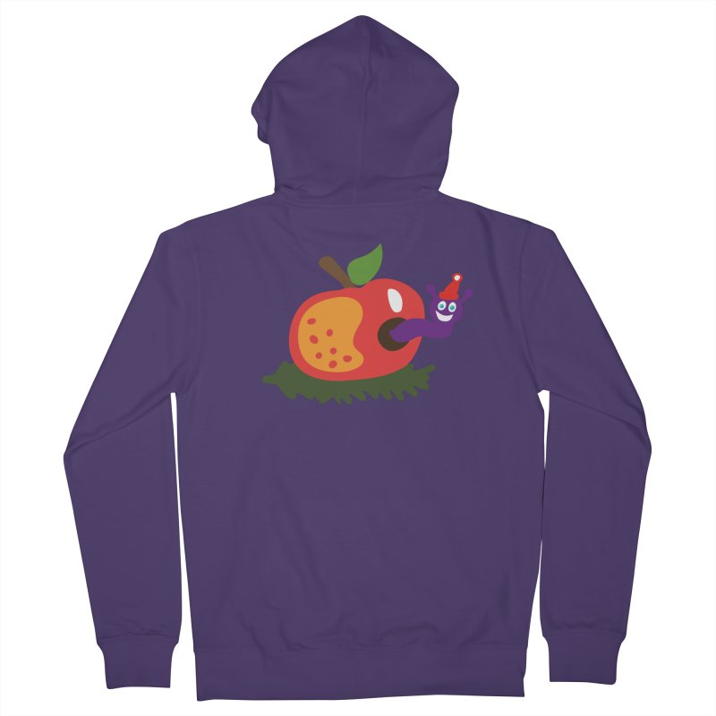 Apple Worm Women's French Terry Zip-Up Hoody by Dicker Dandy