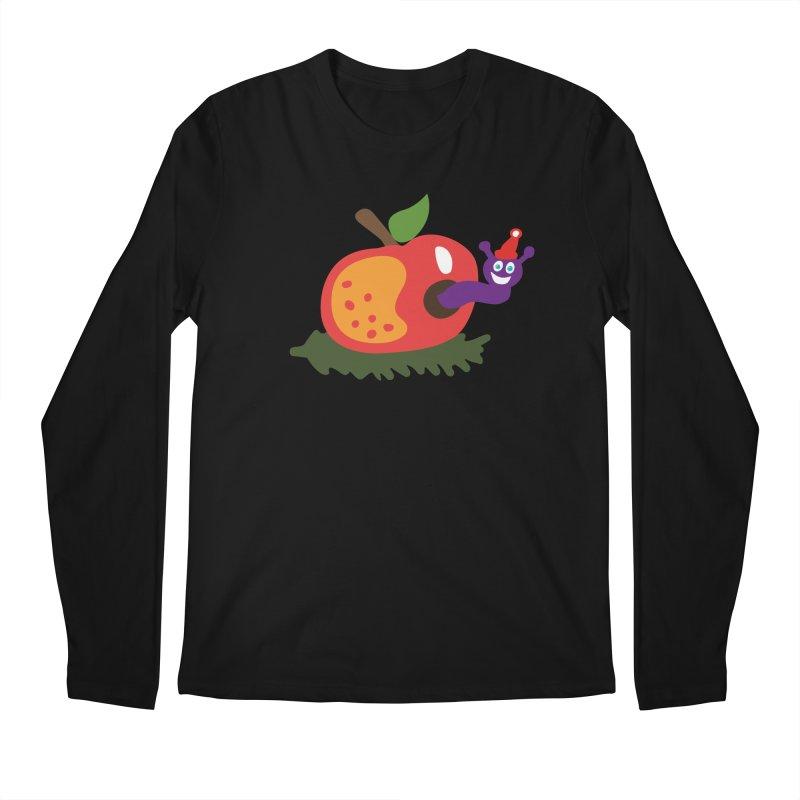 Apple Worm Men's Longsleeve T-Shirt by Dicker Dandy