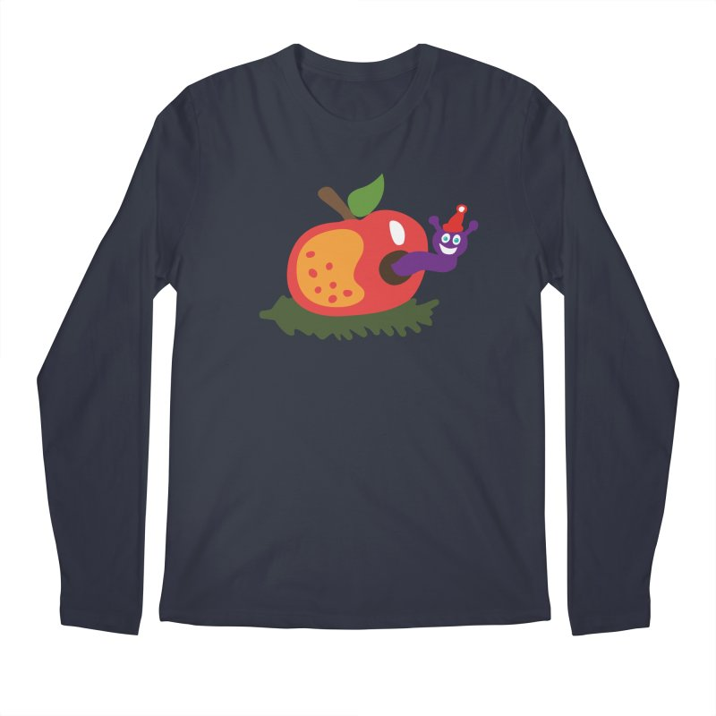 Apple Worm Men's Regular Longsleeve T-Shirt by Dicker Dandy