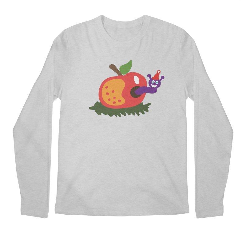 Apple Worm Men's Regular Longsleeve T-Shirt by Dicker Dandy
