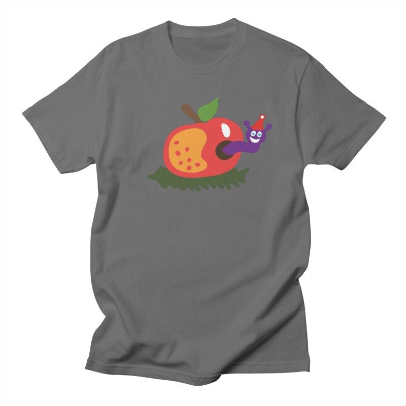 Apple Worm Men's T-Shirt by Dicker Dandy