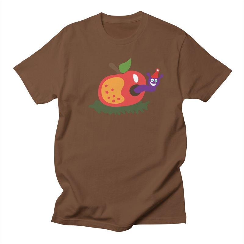 Apple Worm Women's Unisex T-Shirt by Dicker Dandy