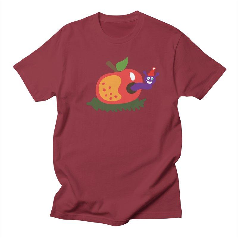Apple Worm Men's Regular T-Shirt by Dicker Dandy