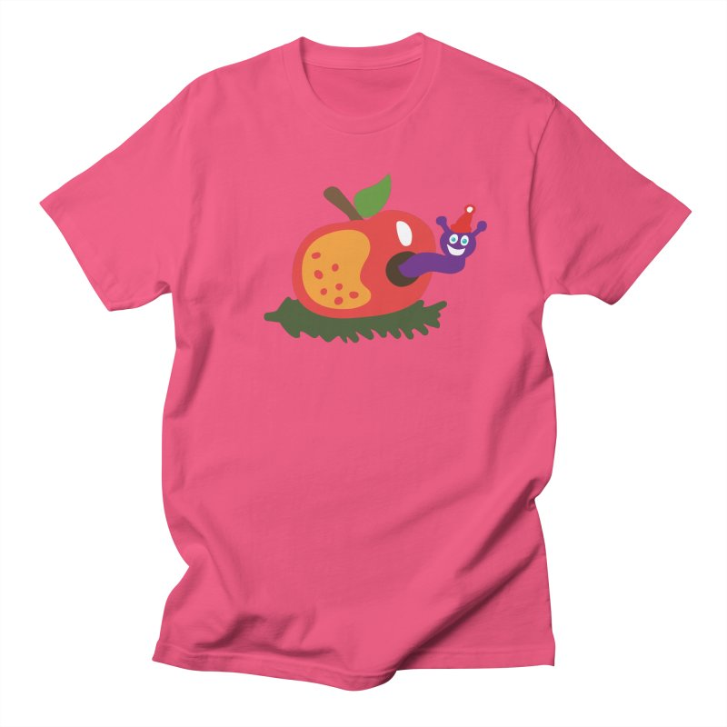 Apple Worm Women's Regular Unisex T-Shirt by Dicker Dandy
