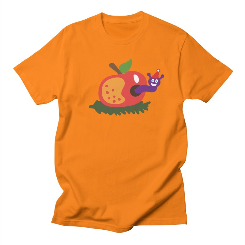 Apple Worm Men's Regular T-Shirt by Dicker Dandy