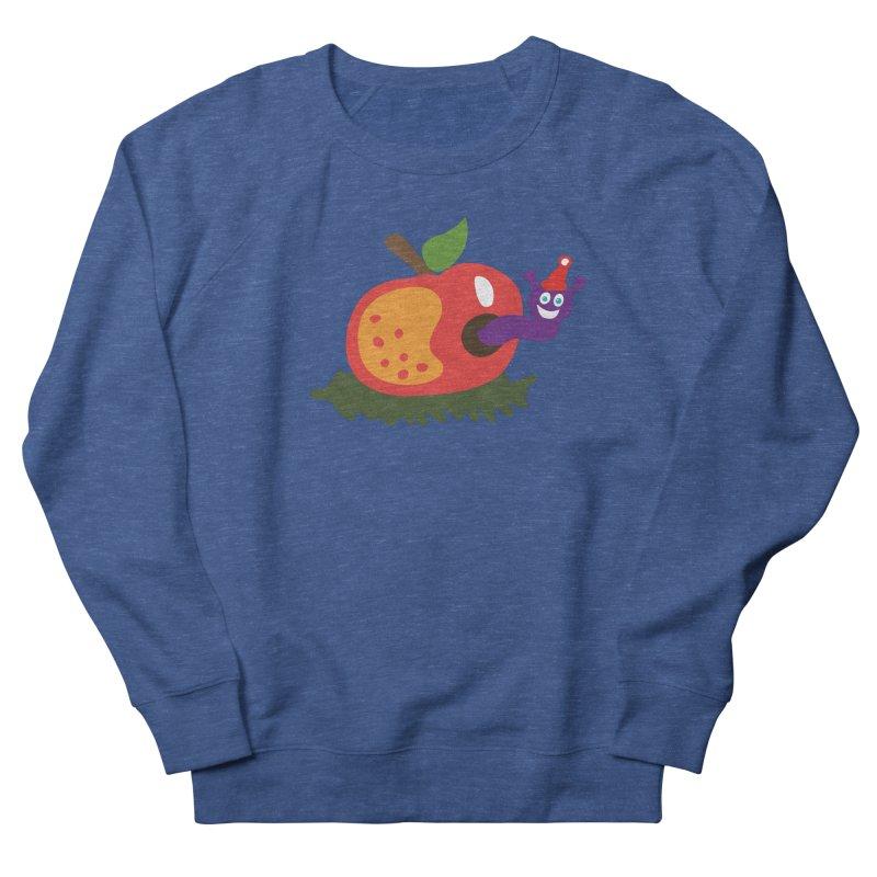 Apple Worm Women's French Terry Sweatshirt by Dicker Dandy