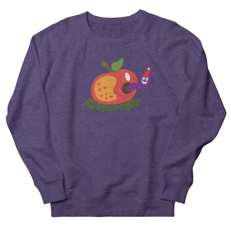 Apple Worm Men's Sweatshirt by Dicker Dandy