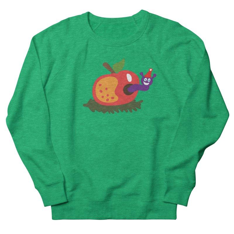 Apple Worm Men's French Terry Sweatshirt by Dicker Dandy