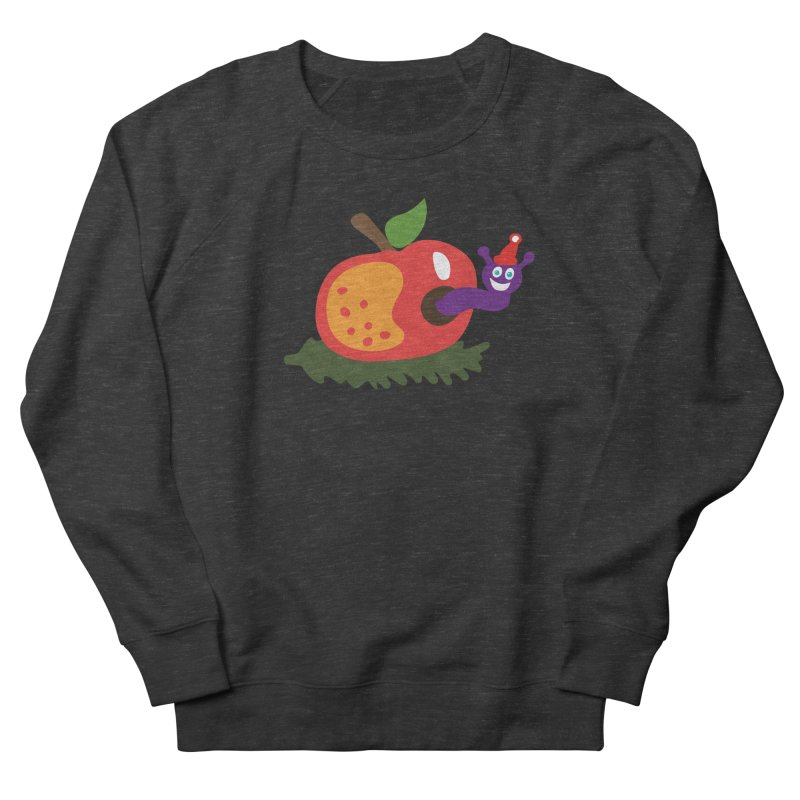Apple Worm Men's French Terry Sweatshirt by Dicker Dandy