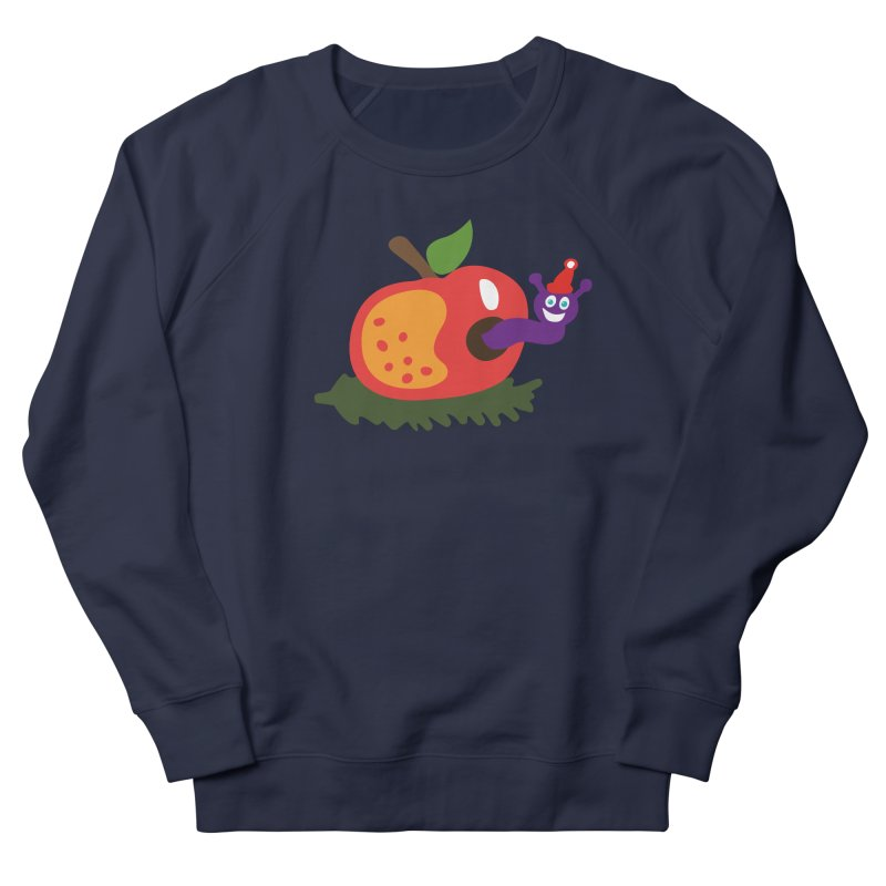 Apple Worm Men's Sweatshirt by Dicker Dandy
