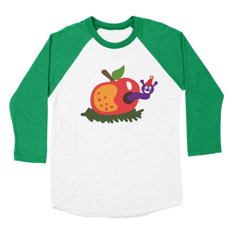 Apple Worm Women's Baseball Triblend Longsleeve T-Shirt by Dicker Dandy