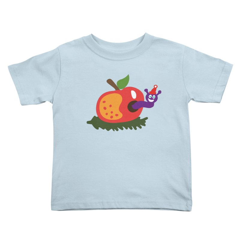 Apple Worm Kids Toddler T-Shirt by Dicker Dandy