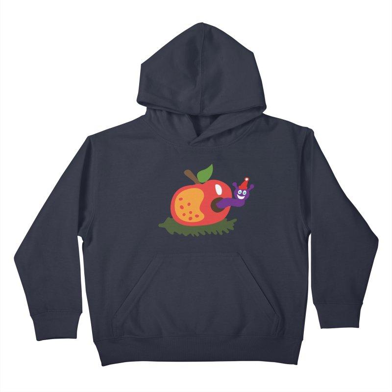 Apple Worm Kids Pullover Hoody by Dicker Dandy