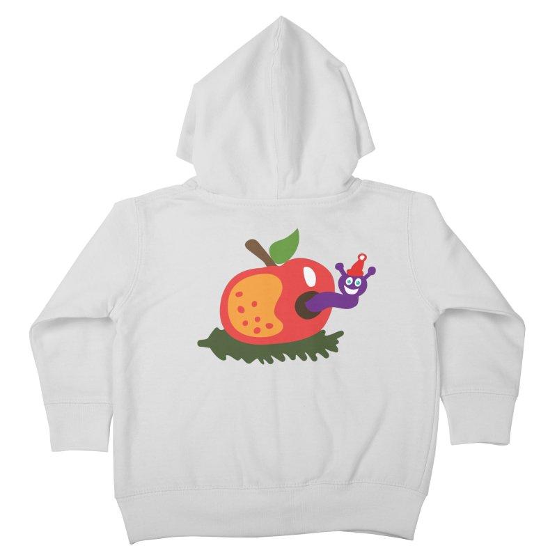Apple Worm Kids Toddler Zip-Up Hoody by Dicker Dandy