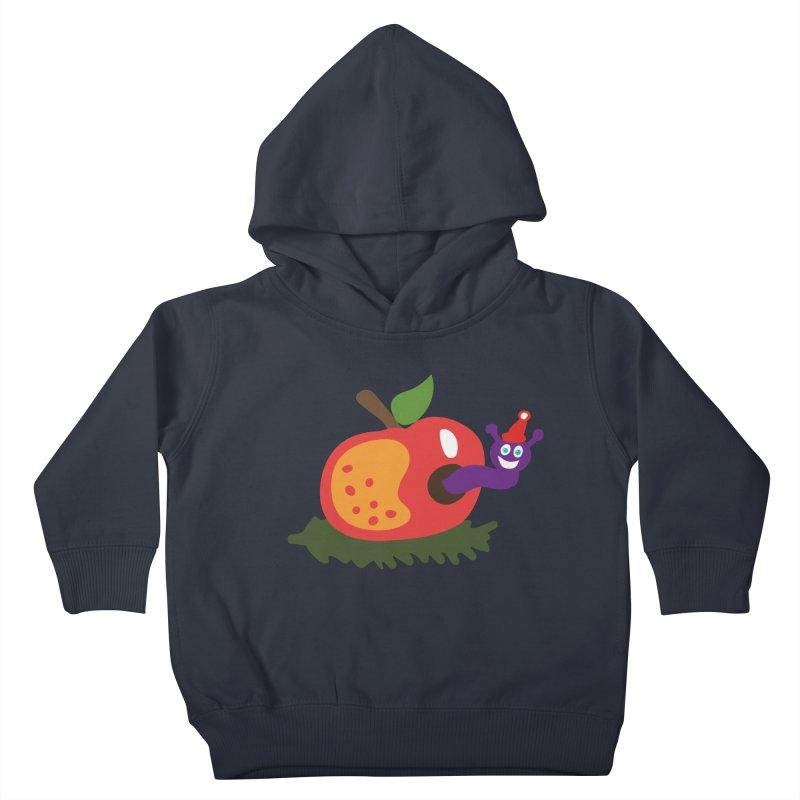 Apple Worm Kids Toddler Pullover Hoody by Dicker Dandy