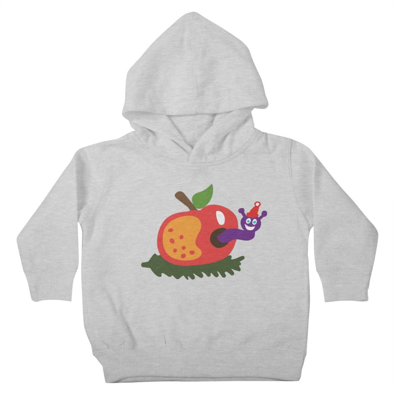 Apple Worm Kids Toddler Pullover Hoody by Dicker Dandy