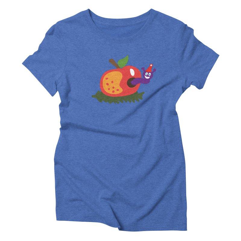 Apple Worm Women's Triblend T-Shirt by Dicker Dandy
