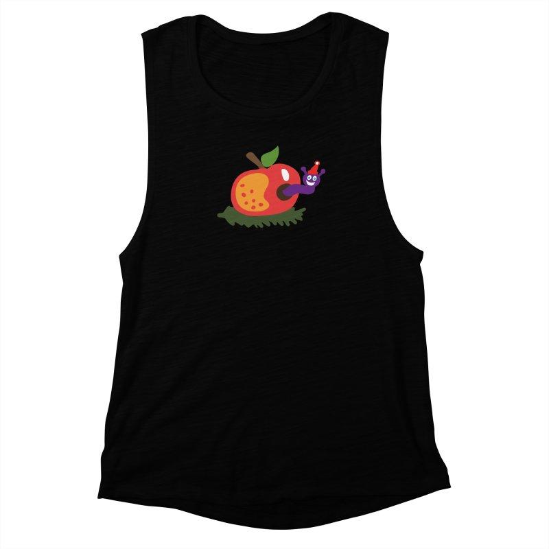 Apple Worm Women's Muscle Tank by Dicker Dandy