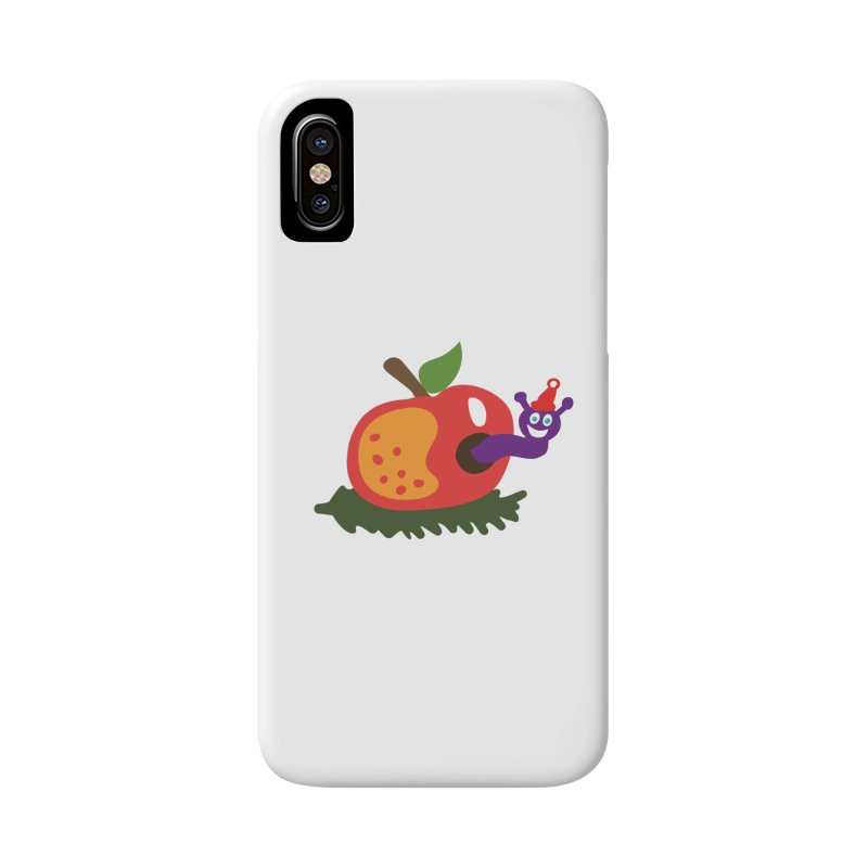 Apple Worm Accessories Phone Case by Dicker Dandy