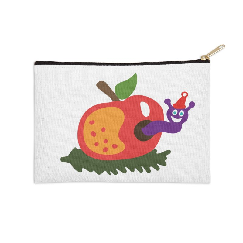 Apple Worm Accessories Zip Pouch by Dicker Dandy
