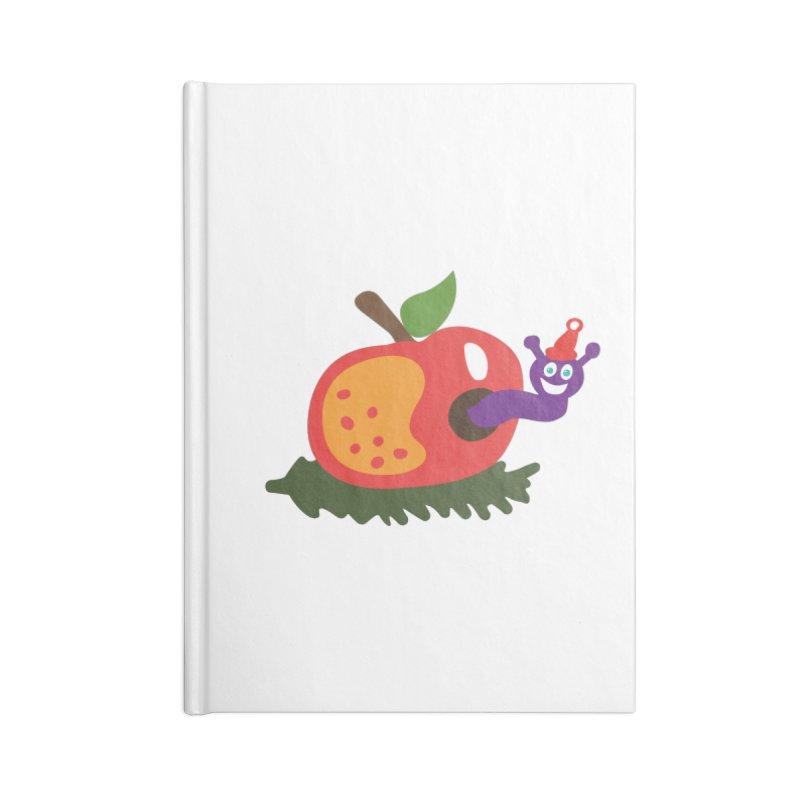 Apple Worm Accessories Notebook by Dicker Dandy