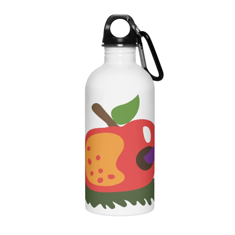 Apple Worm Accessories Water Bottle by Dicker Dandy