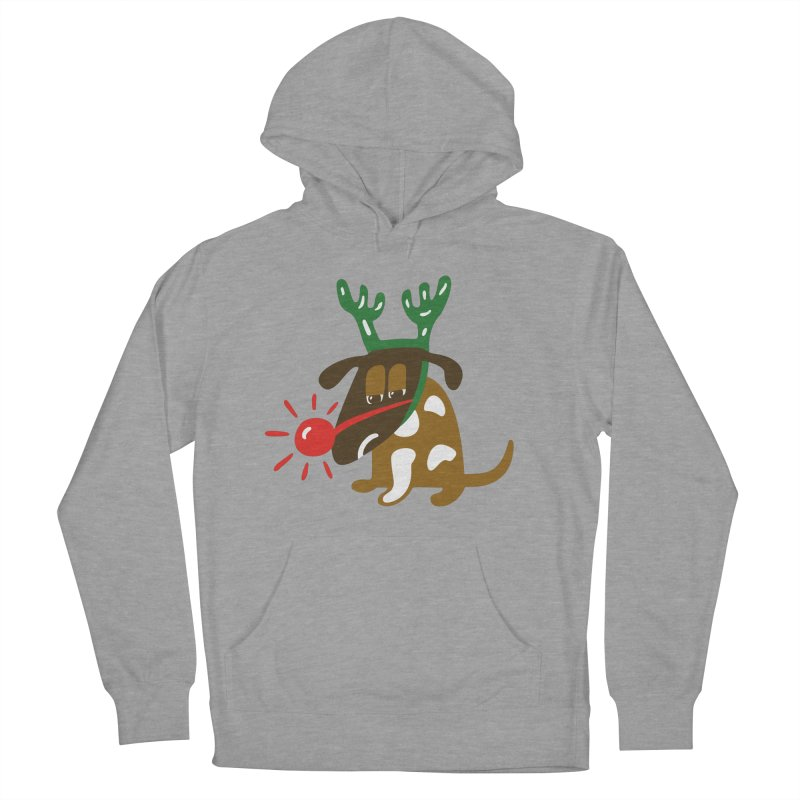Xmas Dog Women's French Terry Pullover Hoody by Dicker Dandy