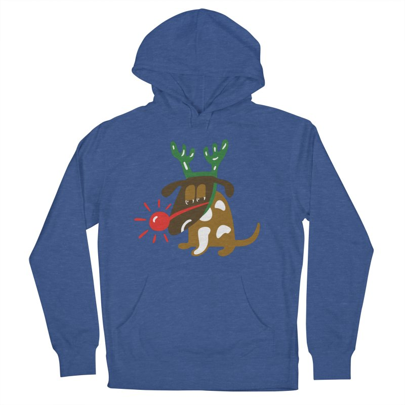 Xmas Dog Men's French Terry Pullover Hoody by Dicker Dandy