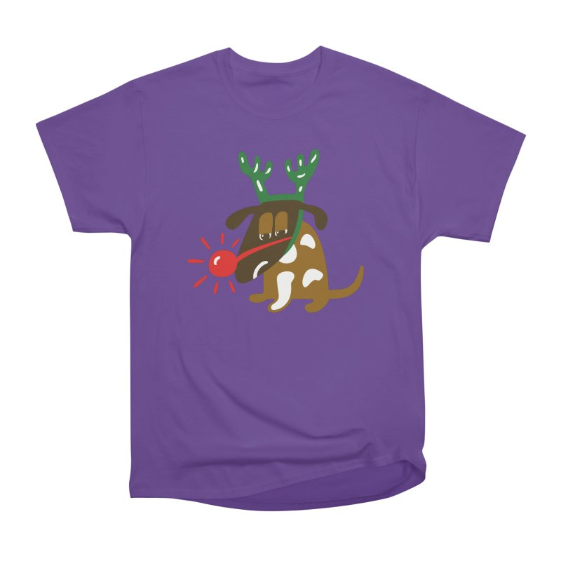 Xmas Dog Men's Heavyweight T-Shirt by Dicker Dandy